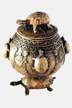 Boîte à bijoux ashanti Akan Bronze