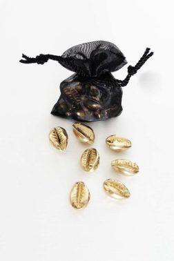 Lot de 10 Cauris décoratifs dorés
