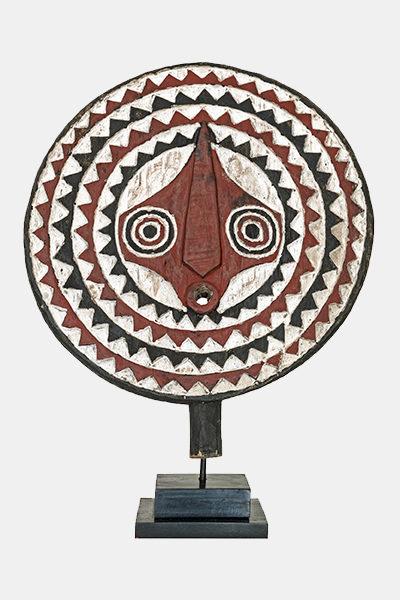 masque soleil bobo en bois polychrome du burkina faso