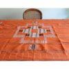 Nappe en toile de coton tissée main, couleur Orange