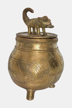 Kuduo Boîte à bijoux Ashanti Bronze