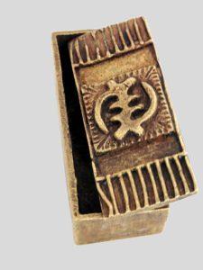 Boîte à poudre d'or Adinkra Gye Nyame