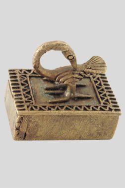 Boite à poudre d'or Akan Sankofa