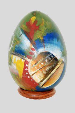 Peinture sur œuf en pierre à savon