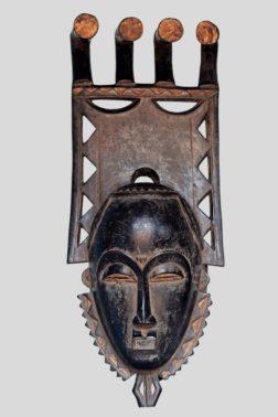 Masque portrait Mblo Baoulé Côte d'Ivoire