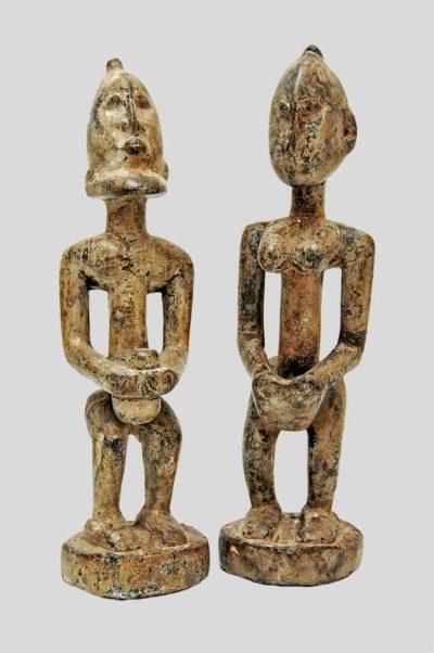 Couple primordial Dogon en bois