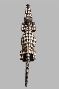 Art africain, Masque Crocodile Gurunsi