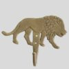 Crochet ou patère décorative Lion en bronze