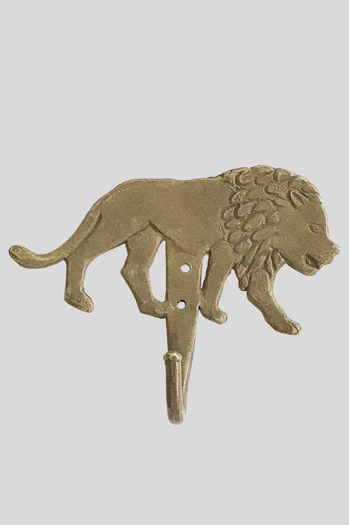 Crochet ou patère décorative Lion en bronze