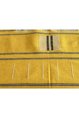 nappe en toile de coton tissée main, couleur Jaune