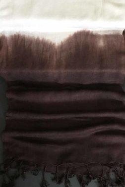 Echarpe pur coton Indigola Marron
