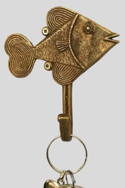 Patère / Crochet poisson en bronze