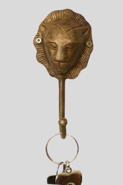 Patère tête de Lion en bronze