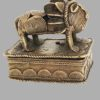 Boîte Akan Lion en bronze